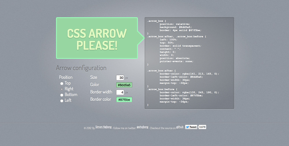 CSS Arrow Please! - HaukeWebs