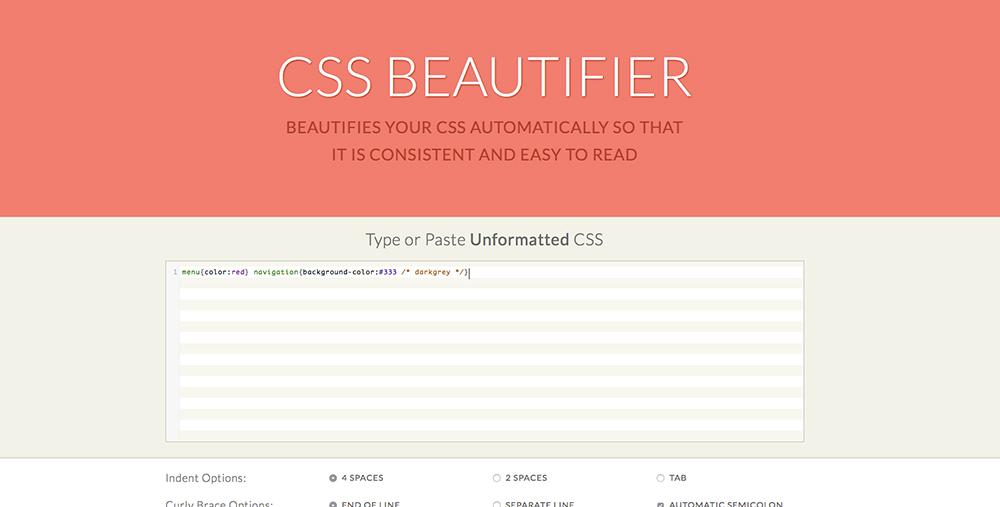 CSS Beautifier - HaukeWebs